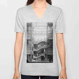 Bradbury Building, Downtown Los Angeles Unisex V-Neck