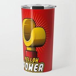 Yellow power Travel Mug