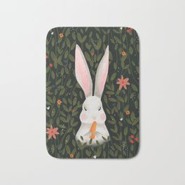 Rabbit in the garden Bath Mat