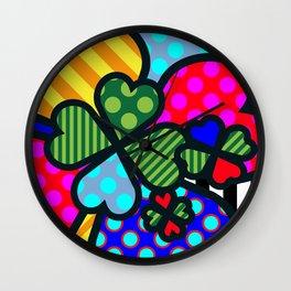 Lucky Cloverleaf XL Wall Clock