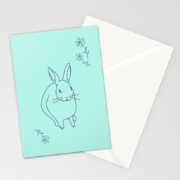 Lou the Bunny with Flowers Stationery Cards