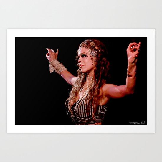 Gypsy Woman Bellydance Art Print