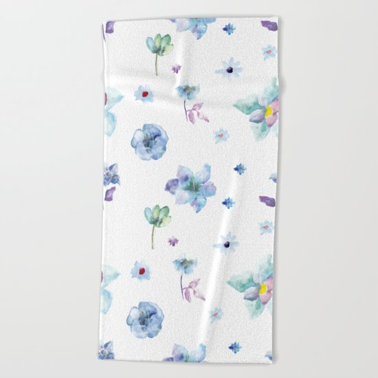 Delicate Floral Pattern 02 Beach Towel