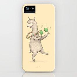 Alpaca on Maracas iPhone Case