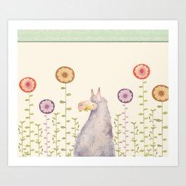 Llama Llama Art Print