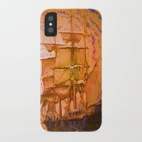 pirate ship iPhone & iPod Cases featuring pirate ship by Moonlight Creations