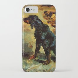 "Henri de Toulouse-Lautrec ""Dun, a Gordon Setter Belonging to Comte Alphonse de Toulouse Lautrec"" iPhone Case"