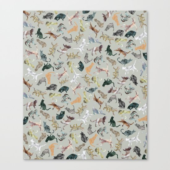 Marble Cats Canvas Print