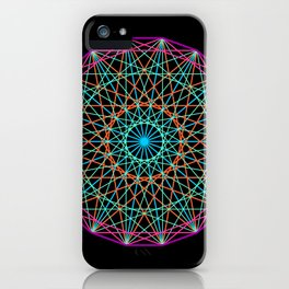 Sacred geometry iPhone Case