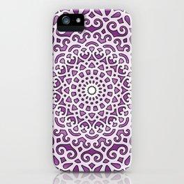 16 Fold Mandala in Purple iPhone Case