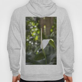White Anthurium Lily Hoody