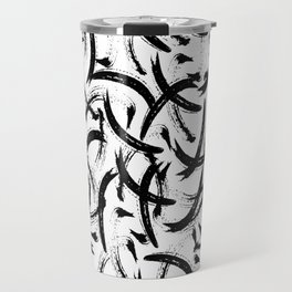 Isobel - Black and white minimal modern urban city brooklyn abstract painting art design hipster Travel Mug