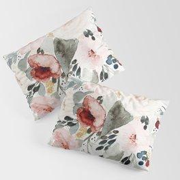 Loose Watercolor Bouquet Pillow Sham