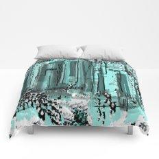Unique Aqua City Comforters