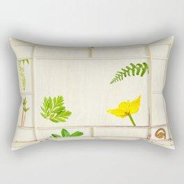 Spring window sampler Rectangular Pillow