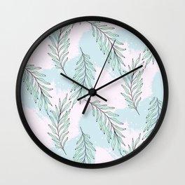 Tender leaves Wall Clock
