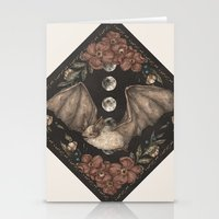 bat Stationery Cards featuring Bat  by Jessica Roux