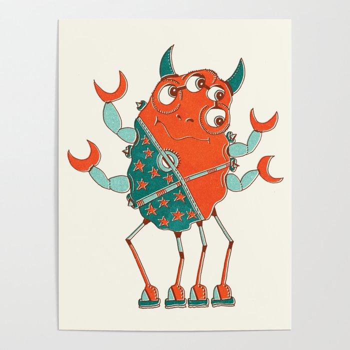 Robot Alien Monster No 027 Poster