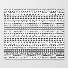 Scandi Hygge Grey Canvas Print