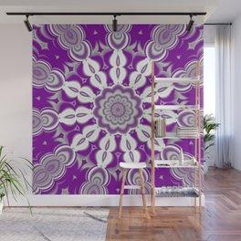 Graysexual Pride Abstract Pinched Shapes Mandala Wall Mural
