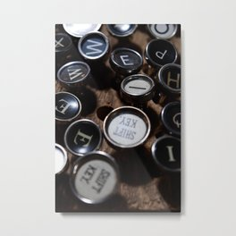 Scattered Keys Metal Print