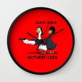 Duck Pulp Fiction Wall Clock