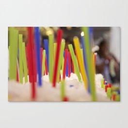 Straw market Canvas Print