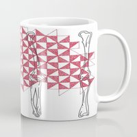 bones Mugs featuring bones by smurfmonster