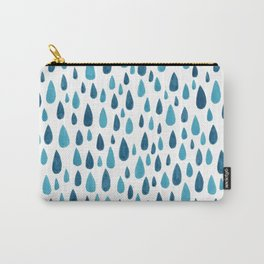 Blue Raindrops Carry-All Pouch