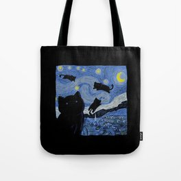 The Starry Cat Night Tote Bag