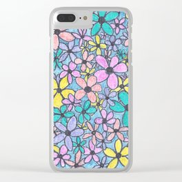 Flower Pattern in colour Clear iPhone Case