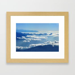 Mountains and Clouds in Nepal Framed Art Print
