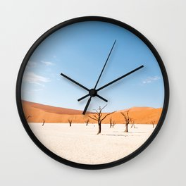 Deadvlei Namibia - TRAVEL PHOTOGRAPHY & LANDSCAPES Wall Clock