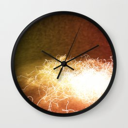 Wired up Wall Clock