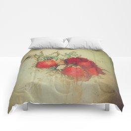 Vintage Red Roses Comforters