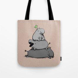 Hippo Totem Tote Bag