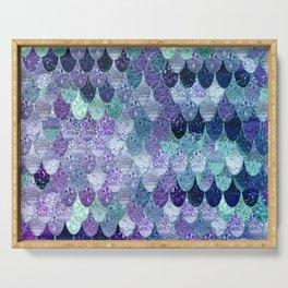 SUMMER MERMAID  Purple & Mint by Monika Strigel Serving Tray
