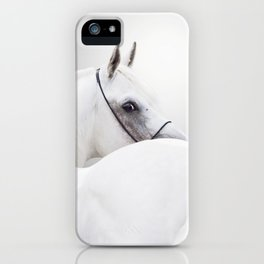 white arabian horse iPhone Case