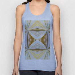 350 - Abstract Palm Fronds Design Unisex Tank Top