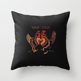 Love hides in the strangest places Throw Pillow