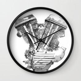 Vintage Harley Panhead Motorcycle Engine Wall Clock