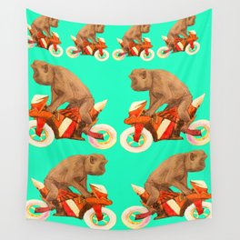 MONKEY BIKER Wall Tapestry