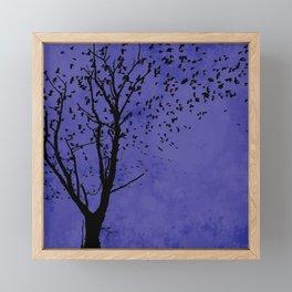 Purple Flight Framed Mini Art Print