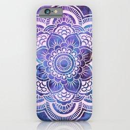 Galaxy Mandala Purple Lavender Blue iPhone Case