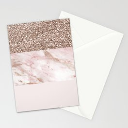 Portofino marble rose gold luxe Stationery Cards