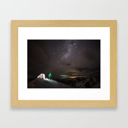 A night under the stars Framed Art Print