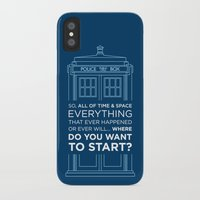 Doctor Who - TARDIS Where Do You Want to Start iPhone X Slim Case