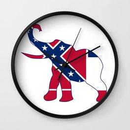 Mississippi Republican Elephant Flag Wall Clock