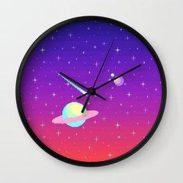 Pixelated Galaxy Wall Clock
