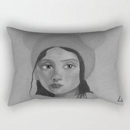 Girl in the Hat by Lu Rectangular Pillow